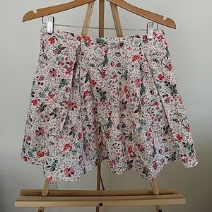 GAP pleated floral skirt Size 2